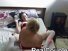 Husband films wife with her lez friend