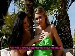 Dominika and Lulu lovely lesbian girls fingering