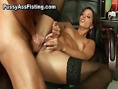 Horny whore gets her gaping asshole part5
