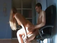 teenie fucked by her friend on the chair