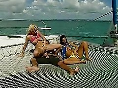Hardcore Boat Fucking with Threesome Sluts