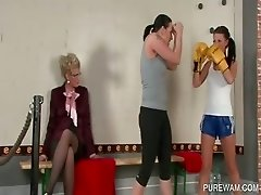 WAM slaves play sex games for mistress