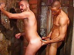 Naughty guys barebacking hard