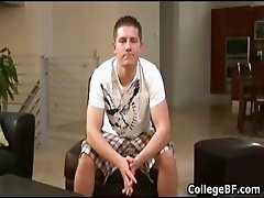 Chad Macon wanking his fine college cock