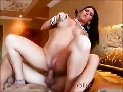 hottie with handful tits gets pussy plowed  Babe
