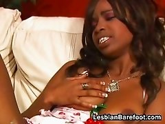 Sluttly blond lesbian sucking black part6