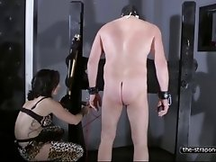 Whipped and Strapon fucked