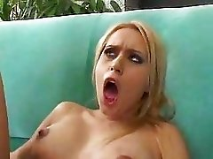 Cute Blonde fucked by a black guy