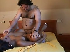 nice chick swing with older man