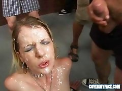 Three Bukkake babe compilation