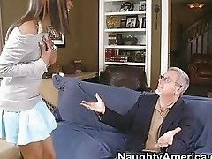 Ebony babe riding a cock