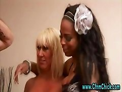 Cfnm femdom girls jerk stripper cock