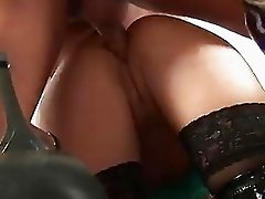 Mature lady helps a guy to fuck a tight ass
