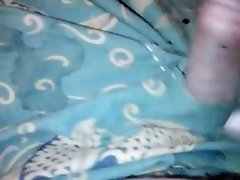 cum on grand mother's 25 years old lungi dress.