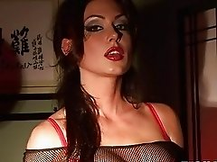 busty and pierced Jessica Jaymes strips down and m