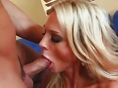 Busty tattooed blonde momma gets her shaved nookie rammed