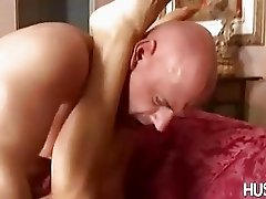 Scorching Vicky Vette gets her warm reward sprayed on her sexy hot feet