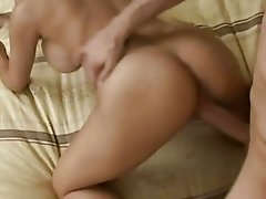 Busty blonde babe gets her pussy ravaged from behind