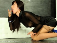 Glamcore asian cumdrenched at the gloryhole