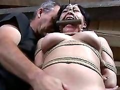 Cruel sex scenes with bound skank and her master BDSM