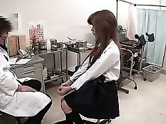Gyno exam of a sexy Asian pussy hole