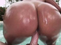 Thight bum busty brunette latina Sofia Char gets pounded