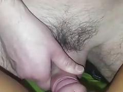 Hard meat rocket alternates between Portuguese slut's cunt and ass