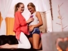 A GIRL KNOWS - Sicilia and Cherry Kiss in wild lesbian fuck