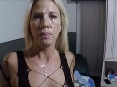 Cum facial for my wife
