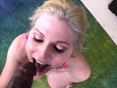 Blonde and horny Christie Stevens gets her pussy destroyed