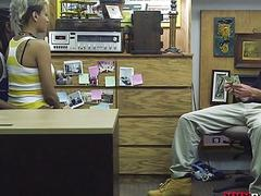 Black guy let the pawn guy fuck his girl