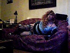 tranny jerking on sofa