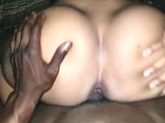 Wild ebony slut with a big round booty enjoys doggystyle sex