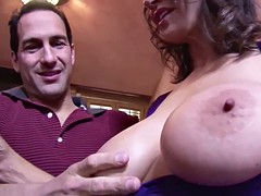 Natural big tits fucking hairy pussy milf since her son's friend