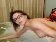 Pretty Nerd Receives a Hot Cum After Fucked