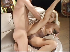 Sexy blonde milf loves a big dick in her ass and pussy and a big facial load