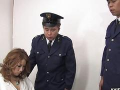 A sexy prisoner getting her wet pussy handled by g