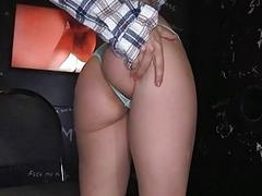 Alluring chick charms with explicit pecker sucking