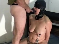 Slave R. gets my piss and cum