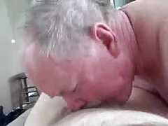 Silver daddy blowjob 7