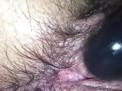 Hairy bbw wife creaming close up