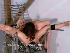 Bizarre prison camp pussy shaving of Little Miss C