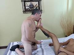 kinky asian dick rider josh bounces on daddy like a pro
