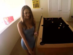 Samantha gets fucked on table filmed POV