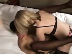 Big and small titted blondes play with dick