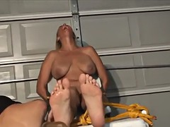 bound foot tickle and worship