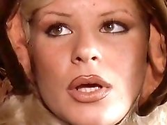 70s Italian blonde lady with hot big tits loves to deepthroat big cock