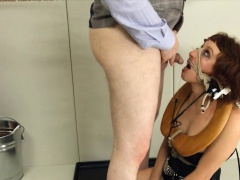 graceful BDSM toilet slut fucked anally hard
