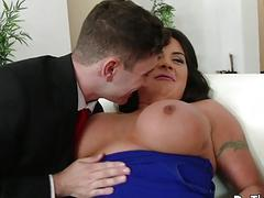 Brunette swinger Candi Coxx fucks in front of husb