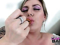 Anal toys excite the voluptuous chick as she plays solo